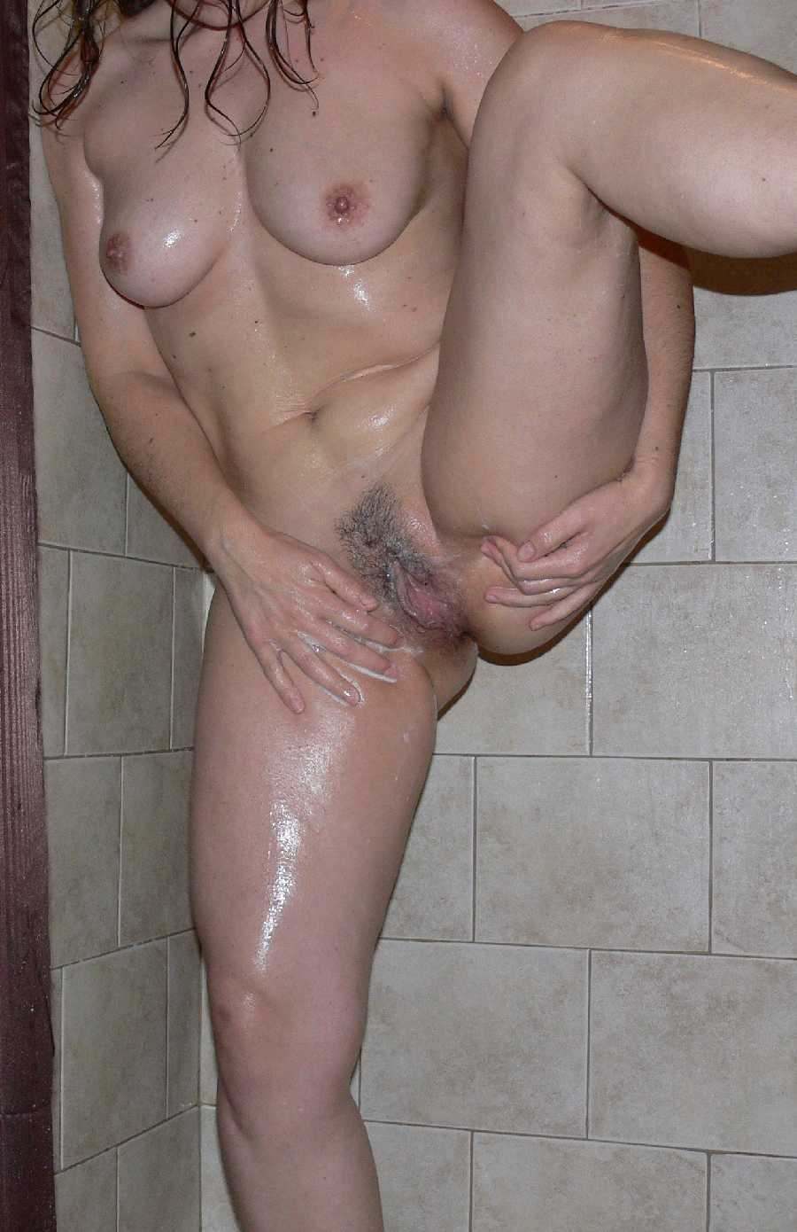 Muscular women spread over